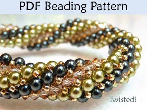 twisted herringbone bracelet tutorial