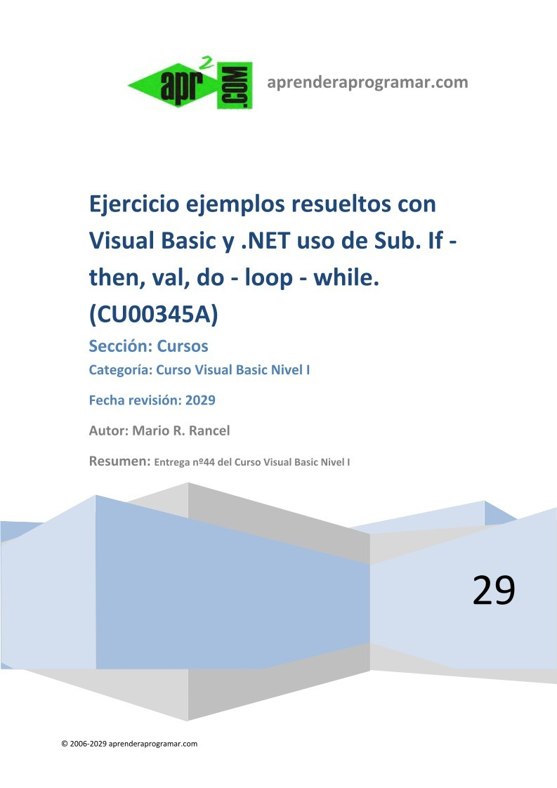 visual basic 2013 tutorial pdf