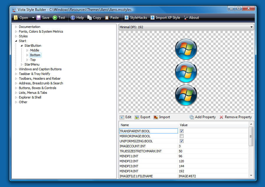 windows 7 style builder tutorial