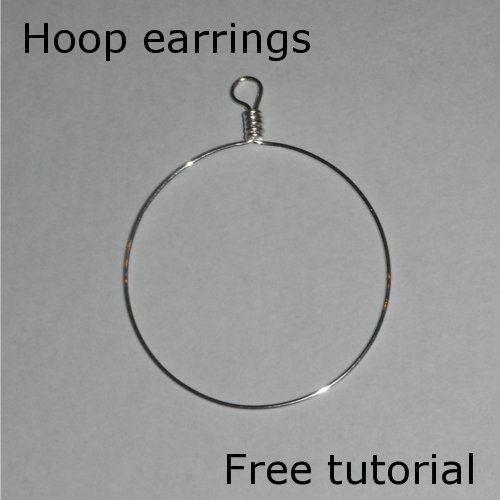 wire hoop earrings tutorial