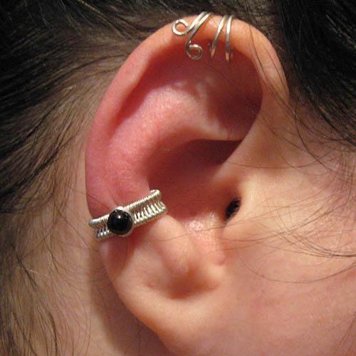 wire wrap ear cuff tutorial