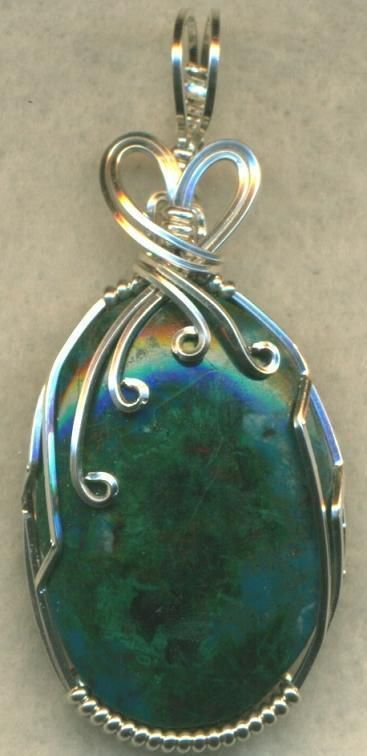 wire wrapped stone pendant tutorial