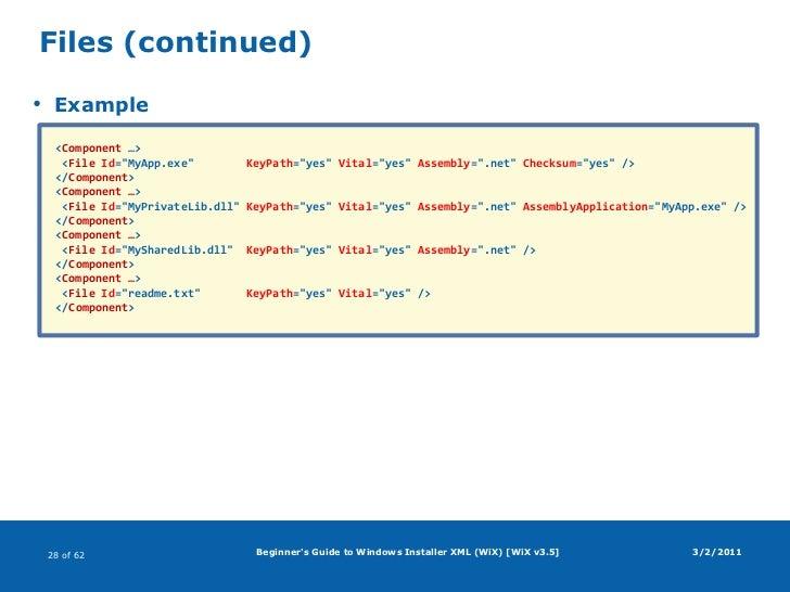 wix installer tutorial for beginners