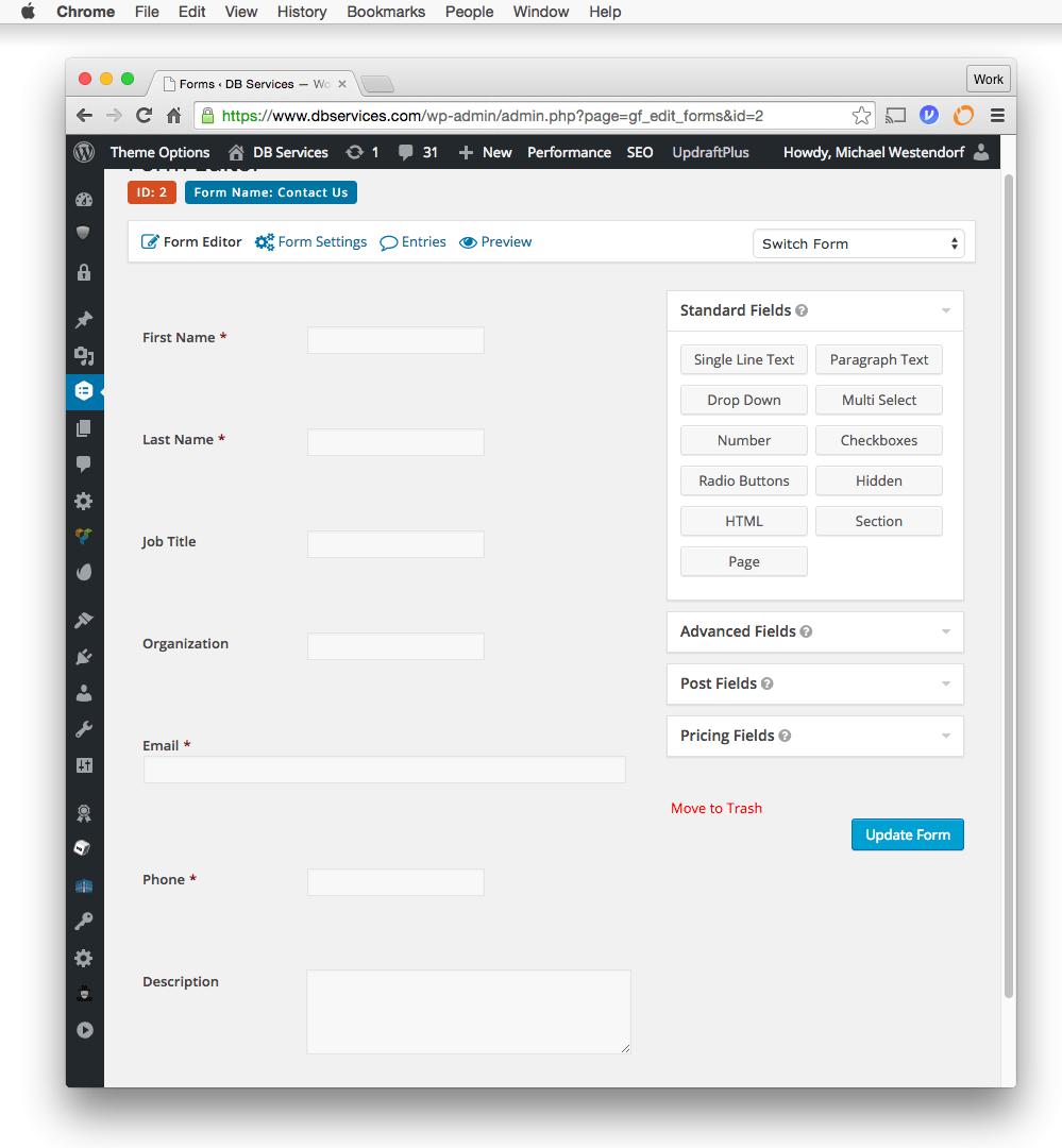 wordpress form to database tutorial