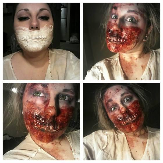 zombie makeup tutorial liquid latex
